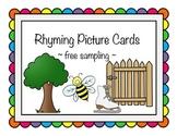 Rhyming Picture Cards - Free Sampling