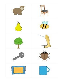 Rhyming Picture Cards- Small Flash Cards FREEBIE