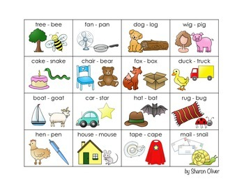 Rhyming Picture Cards - Set One