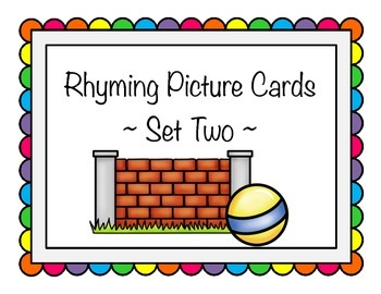 Rhyming Picture Cards - Set Two
