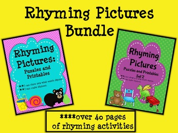 Rhyming Pictures Bundle-Puzzles & Printables Activity Set
