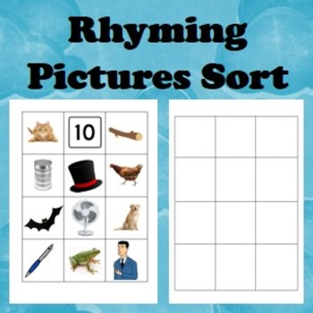 Rhyming Pictures Sorting