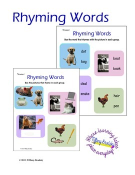 Rhyming Pictures and Words