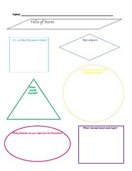 Rhyming Poem Graphic Organizer