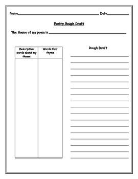 Rhyming Poetry worksheet - fourth grade
