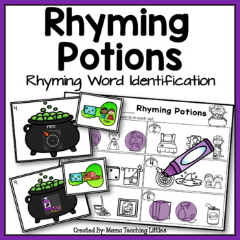Rhyming Potions - Rhyming Word Identification