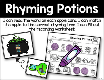 Rhyming Potions - Rhyming Word Identification