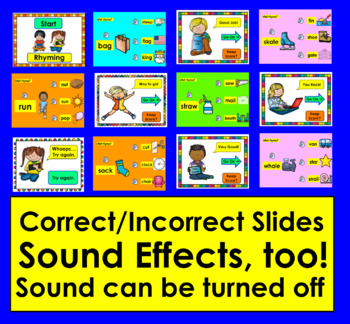 Rhyming PowerPoint Game With a Child's Voice!  With VIDEO PREVIEW