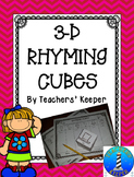 Rhyming Practice Fun with 3-D Cubes