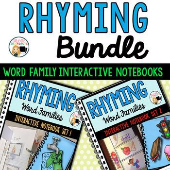 Rhyming Practice Interactive Notebook Bundle