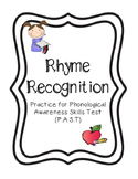 Rhyming Practice - Phonological Awareness Skills Test - Skill #2
