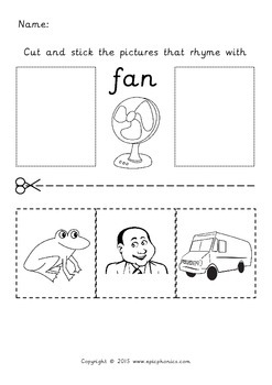 Rhyming Printable