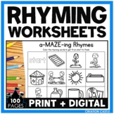 #christmasinjuly21 Rhyming Worksheets with Pictures Bundle