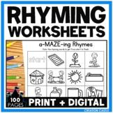 Rhyming Worksheets with Pictures Bundle for Google Slides™