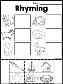 Rhyming Worksheets by Michelle Dupuis Education | TpT