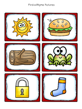 Rhyming-Printables and Games Freebie!