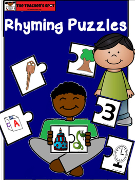 Rhyming Puzzle Colorful Printable