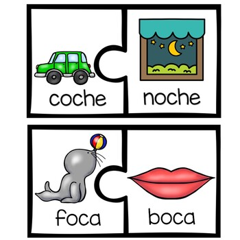 Free Rhyming Puzzles In Spanish