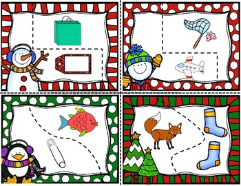 Rhyming Puzzles ~Winter Version~  FREEBIE!!!  8 Puzzles & Printables