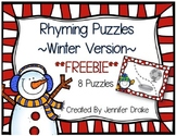 Rhyming Puzzles ~Winter Version~  FREEBIE!!!  8 Puzzles &