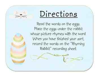 Rhyming Rabbit: Short and Long Vowel Rhyming