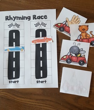 Rhyming Race - A rhyme producing partner game