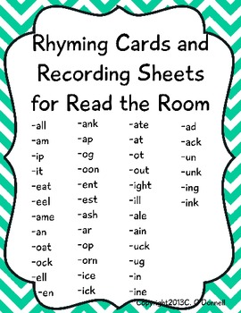 Rhyming Read the Room and more! Common Core, Differentiated