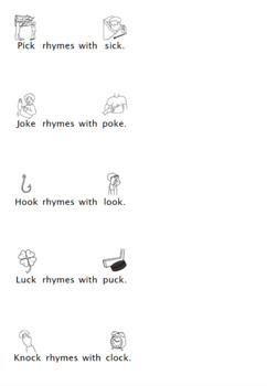 Rhyming Rebus Sentences for final /k/ and /g/ sounds!