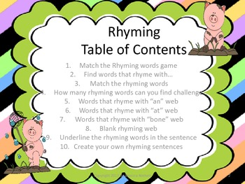 Rhyming Resource Package