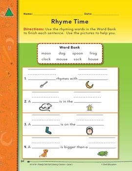 Rhyming--Rhyme Time Literacy Center
