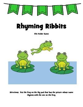 Rhyming Ribbits A File Folder Game