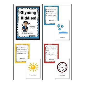Rhyming Riddles:  A READ TO LEARN Book About Adjectives