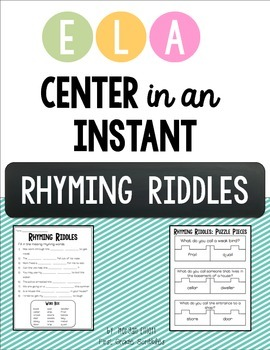 Rhyming Riddles: Center in an Instant