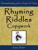 Rhyming Riddles Copywork