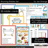 Rhyming Riddles Set - work on schema AND rhyming with these pictures and clues!