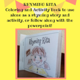 Rhyming Rita- RHYMING WORDS story and activities, COLORING