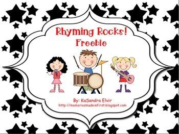 Rhyming Rocks! FREEBIE