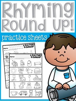 Rhyming Round Up Practice Sheets