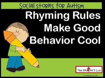 Social Skills Stories: Rhyming Rules Make Good Behavior Cool