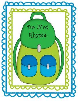 Rhyming School Supplies