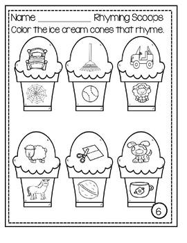Rhyming Scoops - Worksheets