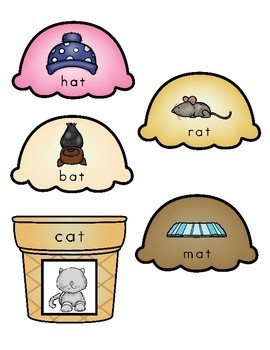 Rhyming Scoops!  Rhyming Literacy Center Activity