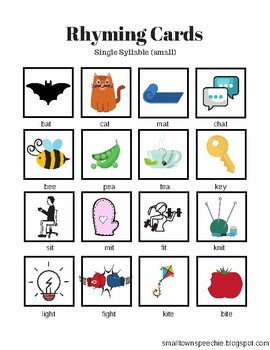 Rhyming & Segmenting Activities: Single Syllable
