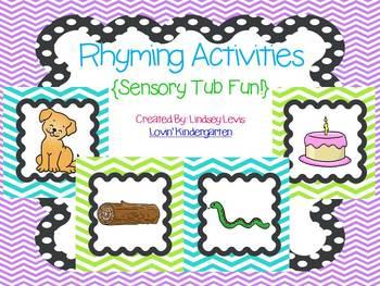 Rhyming Sensory Tub Activities