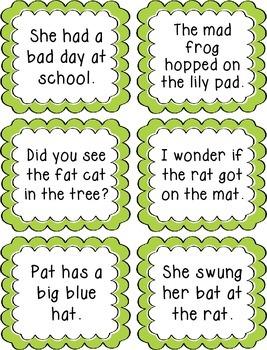 Rhyming Sentence Task Cards Activity