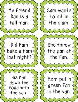 Rhyming Sentence Task Cards Activity