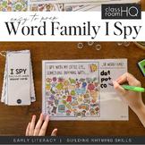 Rhyming Short Vowel Sound Word Family I Spy Mats - OG/OP/OT Pack