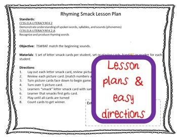 Rhyming Practice Common Core Game
