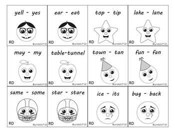 Rhyming Smileys (rhyme discrimination & rhyme production)