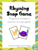 Rhyming Snap Game Phonological Awareness Pre-Literacy